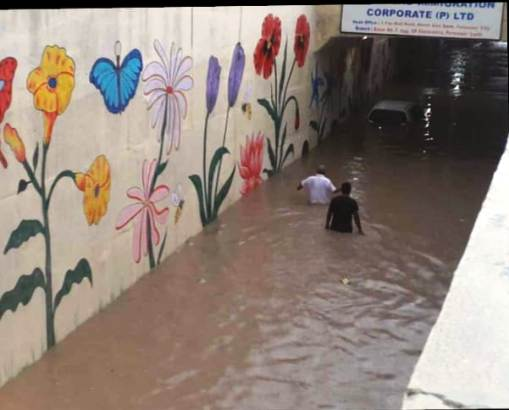 Heavy rains disrupt routine life in Ferozepur