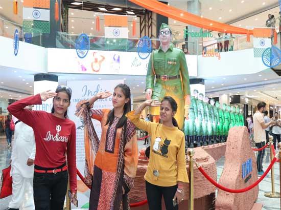 Tribute to Subhash Chandra Bose at Elante Mall