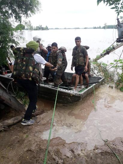 115 persons rescued from flooded villages by Vajra Corps team in Jalandhar