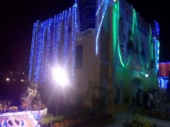 Nankana Sahib in Pakistan illuminated ahead of Guru Nanak Dev's 550th birth anniversary