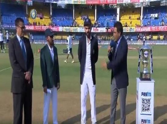 Indore Test: Bangladesh wins toss, opts to bat first