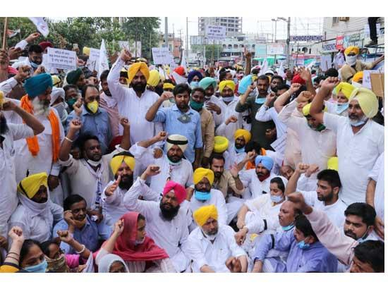 AAP stages protests against govt's move to dole out Bathinda plant land