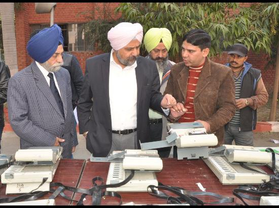 ADC inspects EVMs to be used for upcoming MC Polls