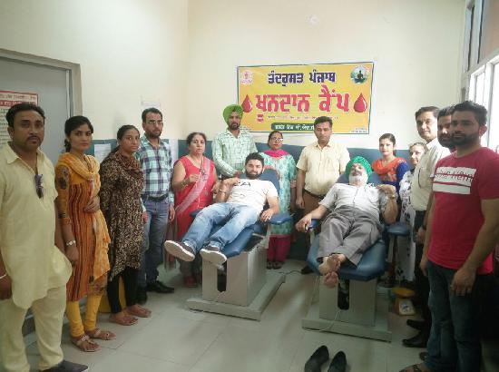 Blood Donation Camp Organized at Banga To Mark World Blood Donors Day