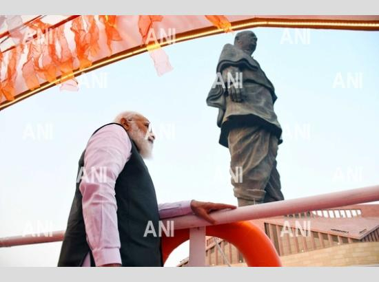 PM Modi pays tribute to Sardar Vallabhbhai Patel on his birth anniversary at Statue of Unity