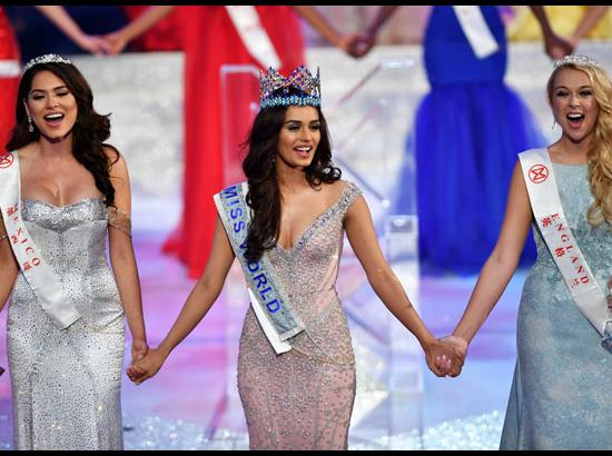 (181117) Sanya (China): India's Manushi Chillar wins Miss World crown