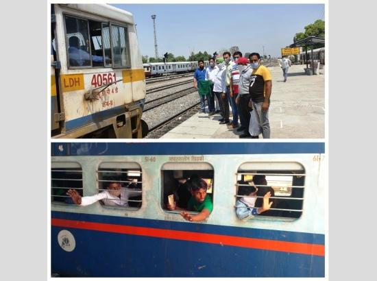 9th  Shramik Express Train moves from Ferozepur for Bareilly