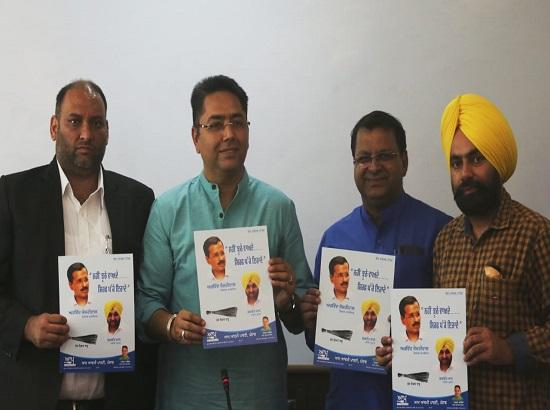 Aam Aadmi Party release its 11-point election manifesto