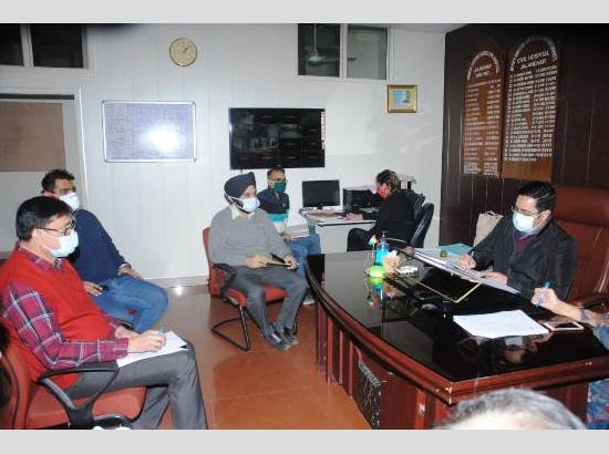 ADC reviews Covid preparedness for Level-II and level-III patients by civil hospital