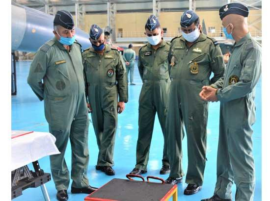AIR Marshal B Suresh visits AIR force station Halwara