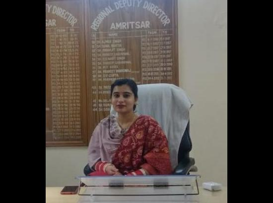 Anamjyot Kaur joins as DD Urban Local Bodies Amritsar