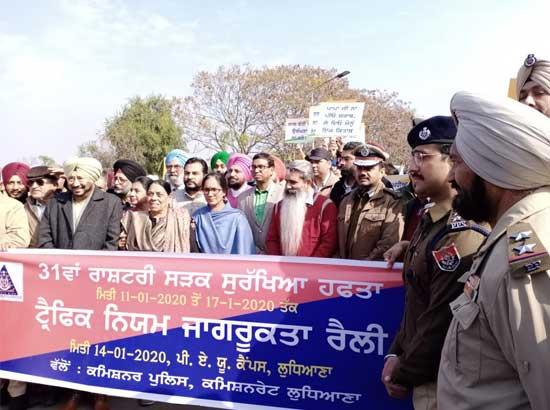 Awareness rally during ongoing traffic awareness week flagged off