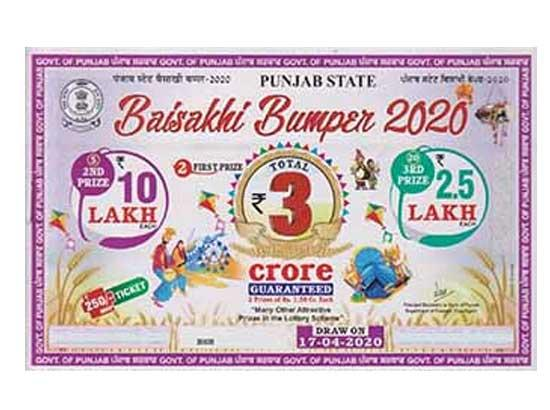 Punjab Govt. refund the money to Baisakhi Bumper-2020 ticket buyers