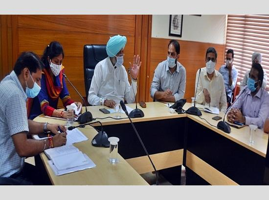 Balbir Singh Sidhu Reviews development issues of the district