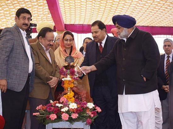 Dr. Harsh Vardhan & Harsimrat Badal inaugurate OPD Services of AIIMS, Bathinda