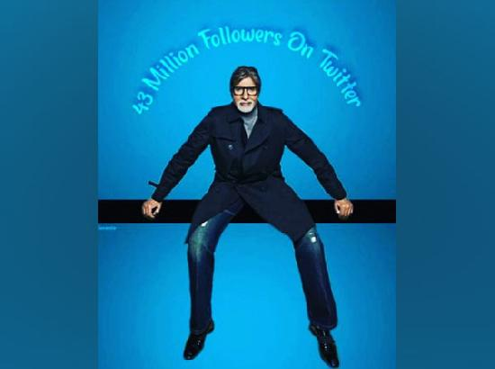 Amitabh Bachchan reaches 43 million followers on Twitter