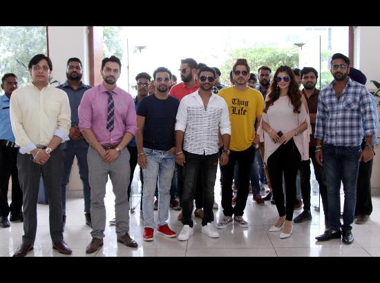 Star cast of upcoming Punjabi movie Thug Life on promotion spree