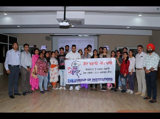 CT Group organises voting awareness seminar