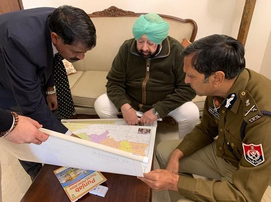 Capt. Amarinder reviews situation with Top brass of Army, Paramilitary & Punjab Police in