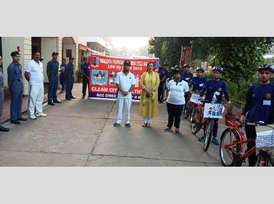 NCC cadets organize Cycle Rally from Leh to Delhi, gets warm welcome at Jalandhar