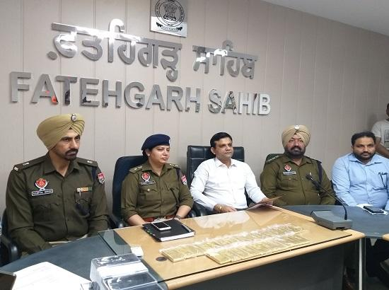 Police Recovered huge quantity 25 Kg. Gold