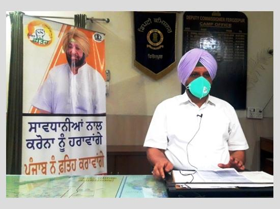 DC Ferozepur addresses Ferozepurians on Facebook live session, solicits people's support
