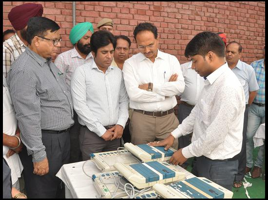 DC inspects the reformatting of the Electronic Voting Machines (EVMs)