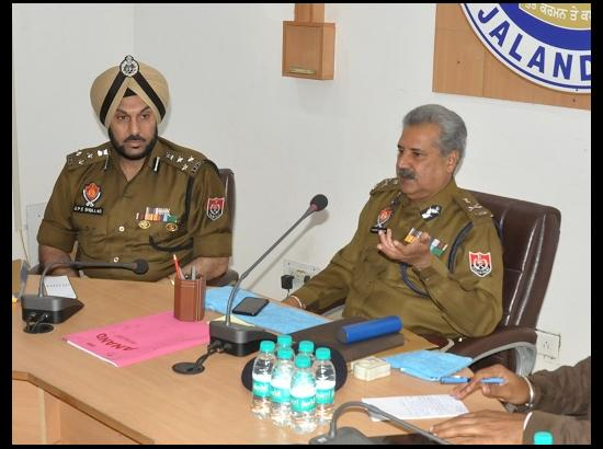 DGP Law and order reviews security scenario in Jalandhar