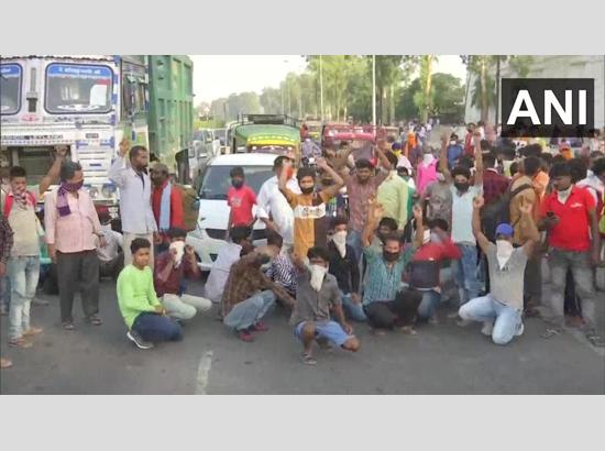 Migrant workers protest in Amritsar