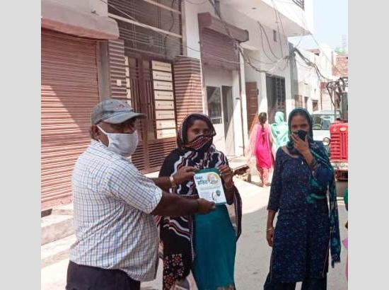 Edu Deptt teams distribute pamphlets to create awareness on Covid-19