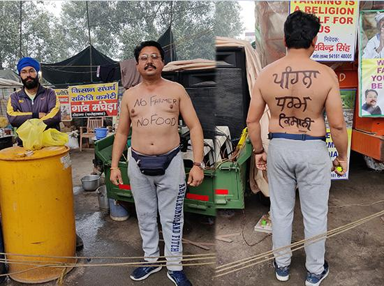 Read : How half naked Haryana farmer continues to protest and does Road Traffic managment
