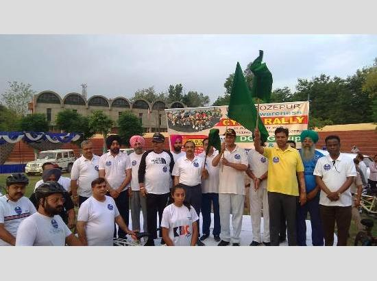 Hundreds of cyclists participate in Mega Voter Awareness Cycle Rally in Ferozepur