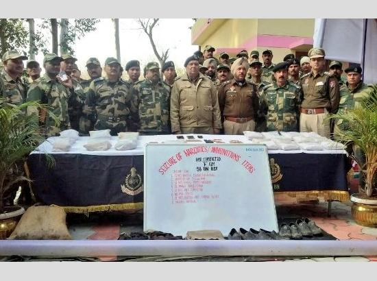 BSF seizes 23 kg heroin, 2 pistols, Pakistan Network WI-FI Router