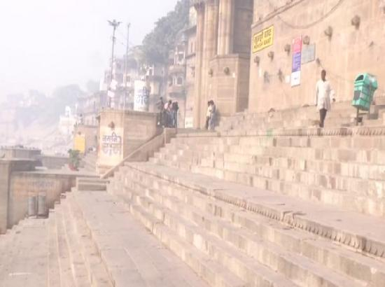 Amid COVID-19, Ganga ghats in Varanasi remain deserted on Holi