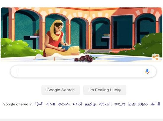 Google honours Punjabi writer Amrita Pritam with doodle