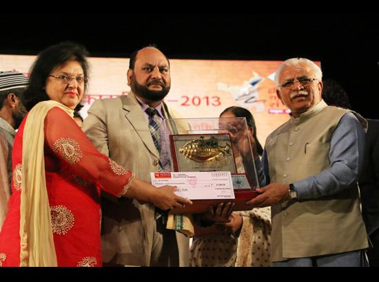 Dr Rattu awarded by CM of Haryana Shri Manohar Lal Khattar in Panchkula