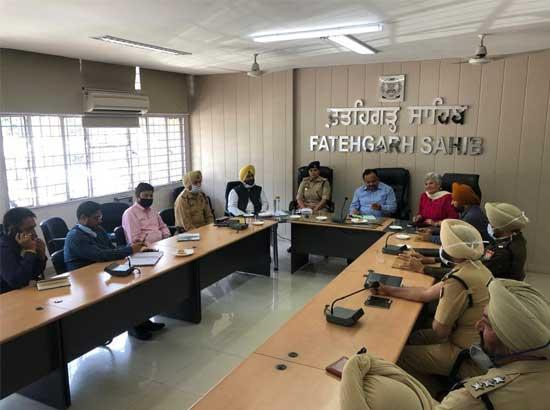 IG holds review of law and order meeting with DC & SSP