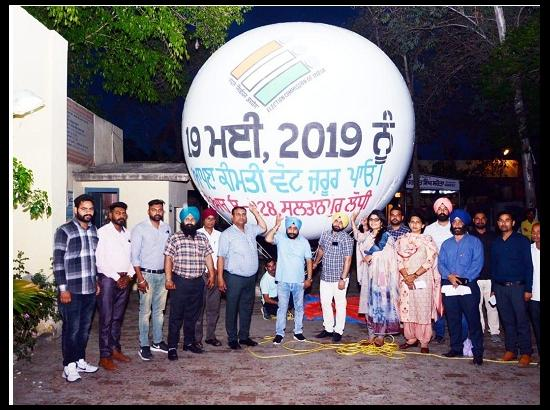 Vote Motivation Campaign Goes Sky High in Sultanpur Lodhi
