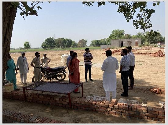 Amarpreet Kaur Sandhu IAS ADC (D) Mansa inspecting the MNREGA works in villages