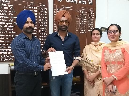 Actor Cum Singer Tarsem Jassar is SVEEP ICON for Fatehgarh Sahib