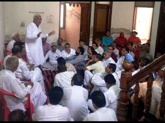 Jyani appeals Fazilka residents to ask their Gurdaspur relatives to vote for BJP