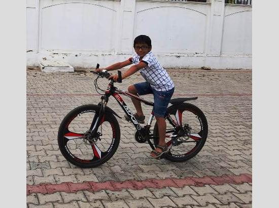 Kanav, 3rd Std student starts 'Pledge to Pedal' campaign to improve immune system