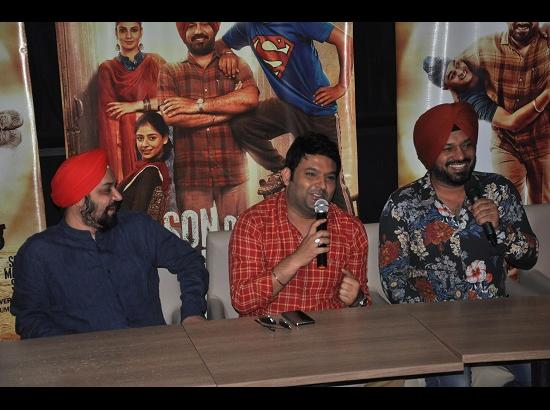 Kapil Sharma promotes Son of Manjeet Singh, his first Punjabi movie as producer
