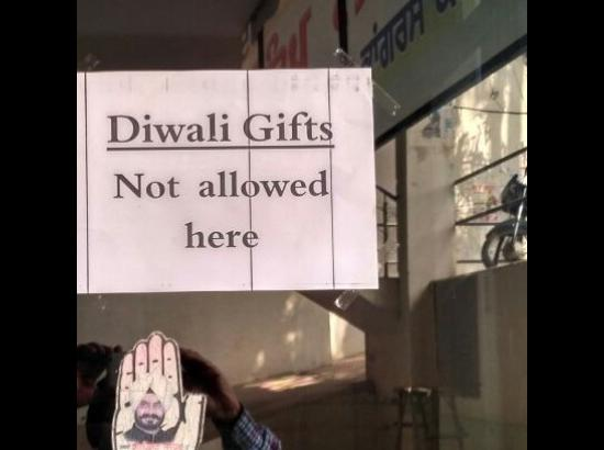 MLA puts up notice, says no to Diwali gifts