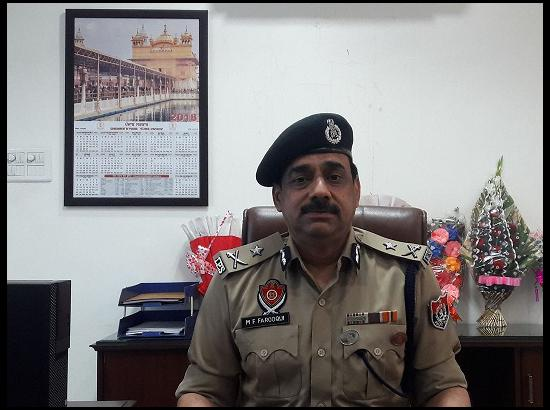M.F Farooqui IPS joins as Inspector General of Police Bathinda zone