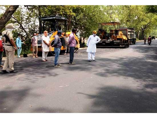 MLA Kuljit Nagra inaugurates Repair work of Sirhind-Patiala 21 KM Road at the cost of Rs.