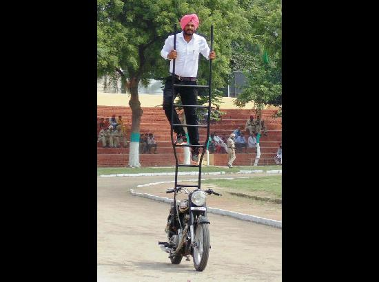 Home-grown stunt biker Mandeep Singh is Feroz