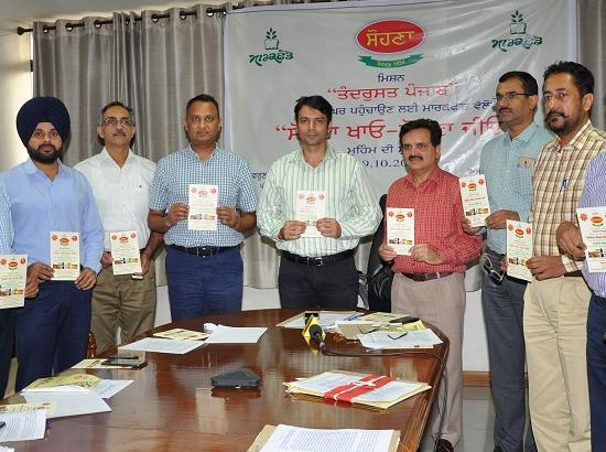 Markfed launches 'Sohna Khao, Sohna Jio' initiative