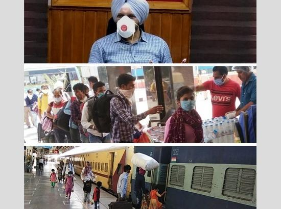 More than 16,000 migrants transported from Ferozepur in 15 Shramik Special trains