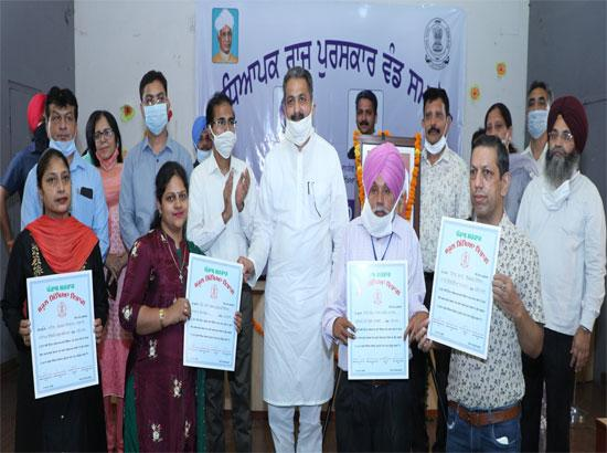 Education Minister Singla confer state awards to 74 teachers and officials